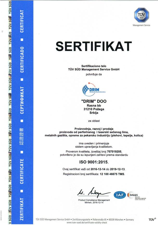 iso 9001 sertifikat